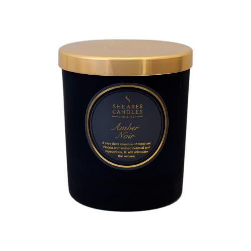 Amber Noir Glass Jar