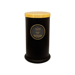 Amber Noir Tall Pillar Glass Candle