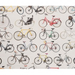 Ella Doran BIKES OF HACKNEY WHITE tea towel