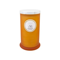 Amber Rose Tall Pillar Jar Candle