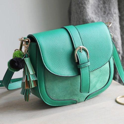 green cross body handbag